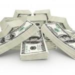 Hög med pengar från en bingobonus